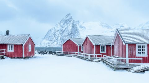 Winters landschap in de Lofoten