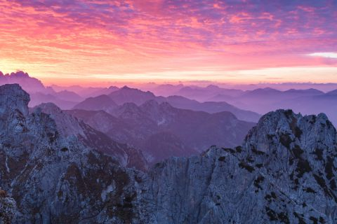 Julian Alps at sunset