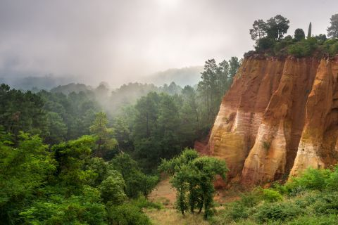 Ochre cliffs near Roussillon