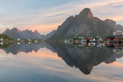 Reine surrounded by mountains