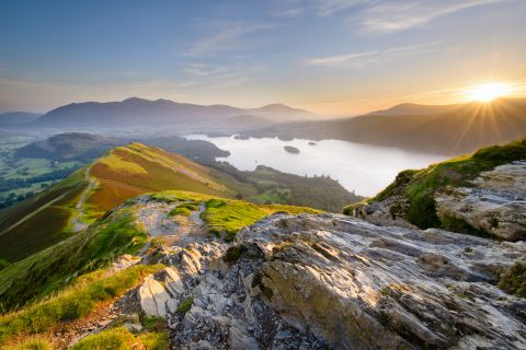 Sunrise over Derwent Water from Cattbells