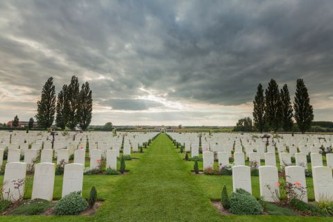 Storm above Tyne Cot Cemetery